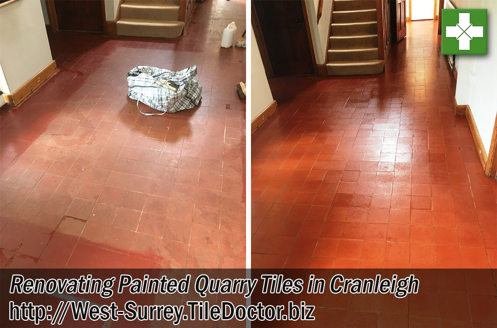 Painted-Quarry-Tiles-Before-After-Renovation-Cranleigh